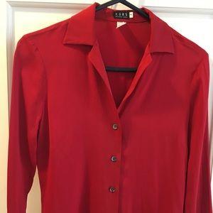 Red silk KORS by Michael Kors t blouse